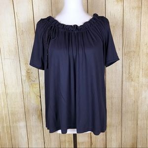 J. Crew Luxe Knit Gathered Tee Size S